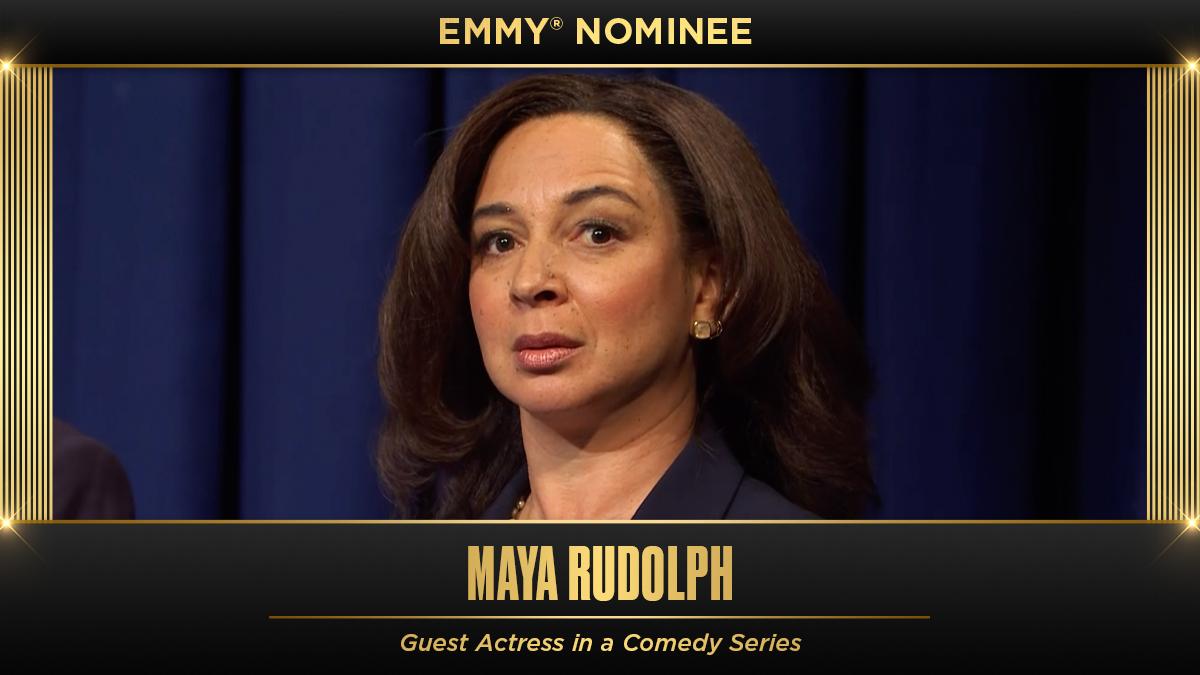 Congrats to SNL alum @MayaRudolph on the Emmy nomination! 🌟