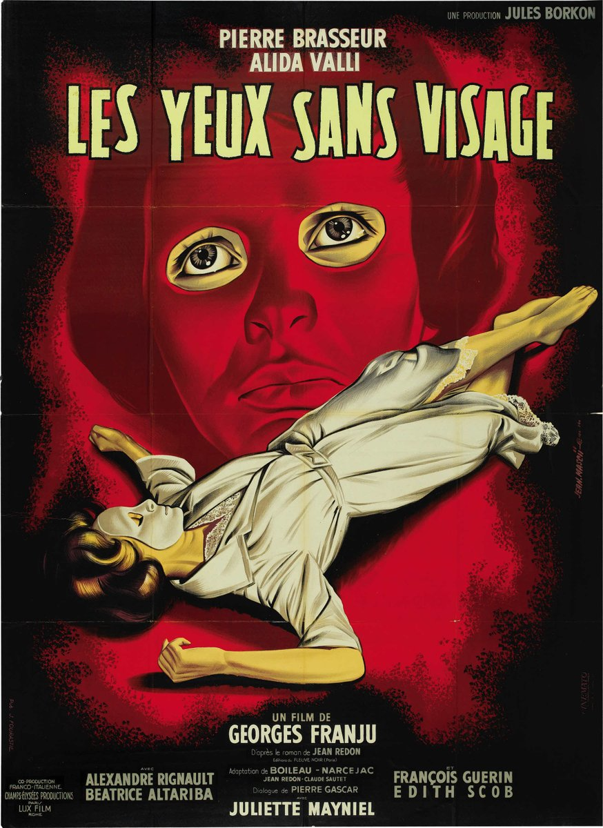 LES YEUX SANS VISAGE (1960) Eyes Without a Face by George Franju w/ Edith Scob #poster pic.twitter.com/gtmUl1Kbpx