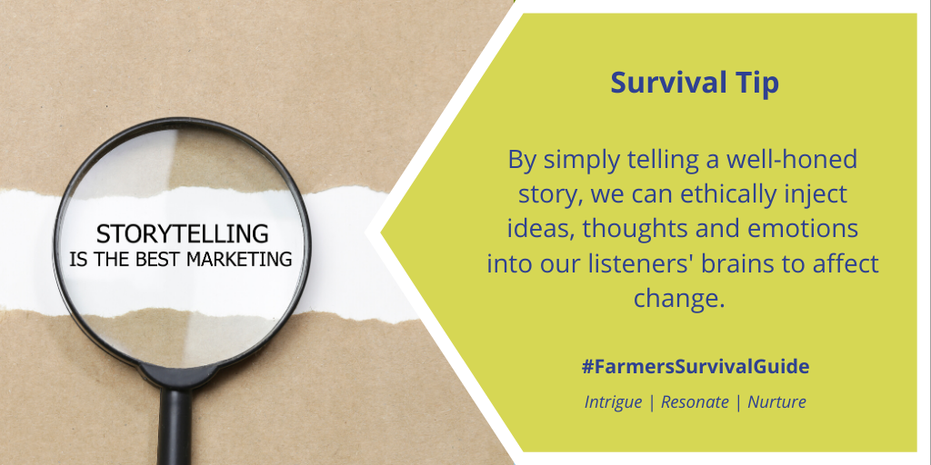 """For tips on how to craft a good story, read """"The 4 Ps of Storytelling"""": https://t.co/AjVEvHLwi8  #farmtoconsumerconvo #FSGtip #agcomm #AgTwitter #CdnAg https://t.co/Ffx2Cbl1jd"""