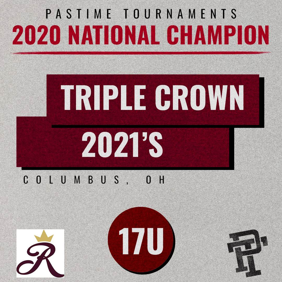 RT @PastimeBaseball: Shoutout to our 2020 17U National Champions, from Ohio, @TCR2021s! https://t.co/24cFNpd2AN