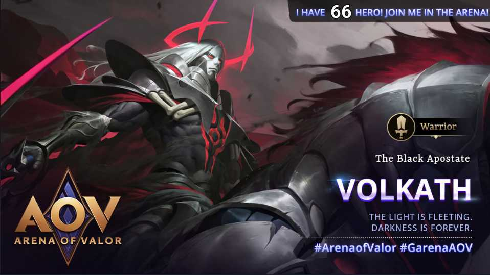 The Black Apostate #GarenaAOV #ArenaofValor #NewHero #Volkath #Warrior #Assassin #Mobility #SlayerLane #Jungling #Hero66pic.twitter.com/Y0mQDMAe1O