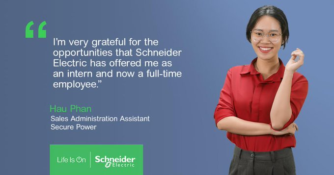 Schneider Electric intern women