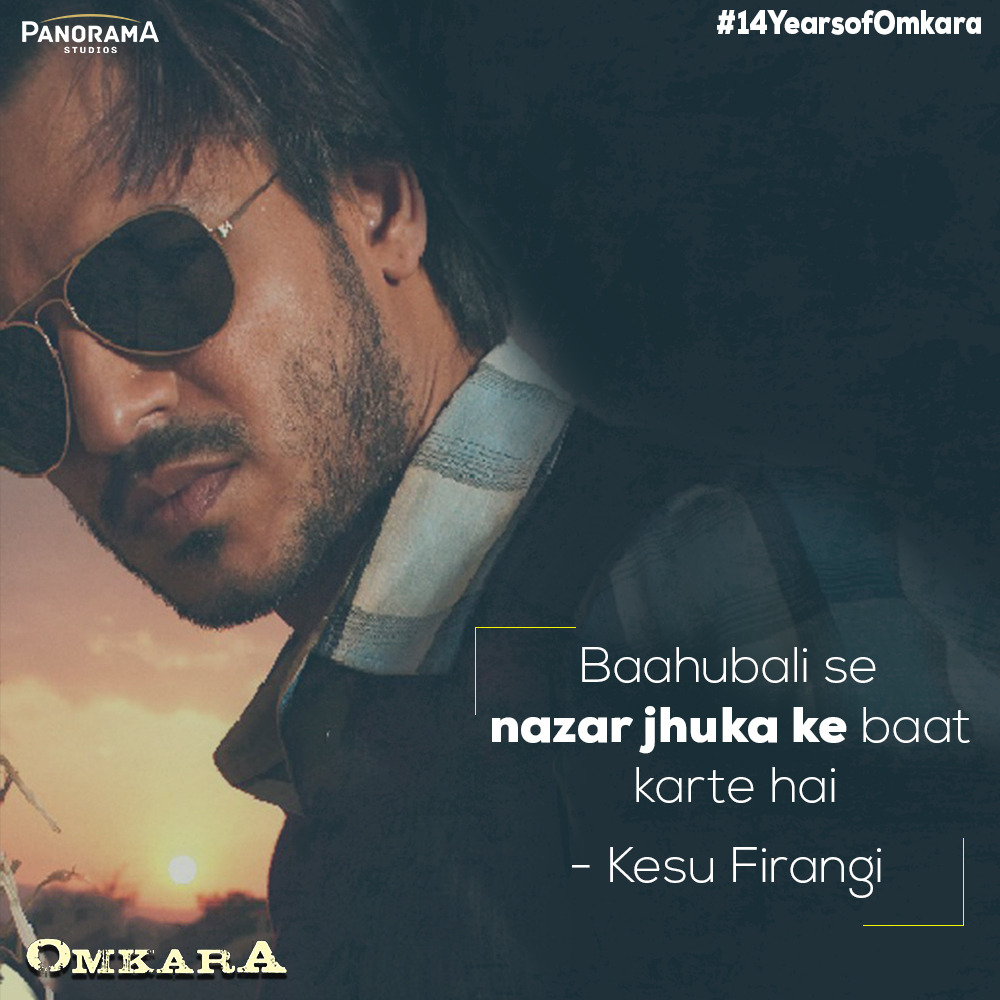 From sassy characters to iconic dialogues to melodious music, Omkara is a special one for us. Celebrating blockbuster #14YearsofOmkara  @ajaydevgn #SaifAliKhan #KareenaKapoorKhan @konkonas @bipsluvurself  #DeepakDobriyal  #NaseeruddinShah @TripathiiPankaj @VishalBhardwaj