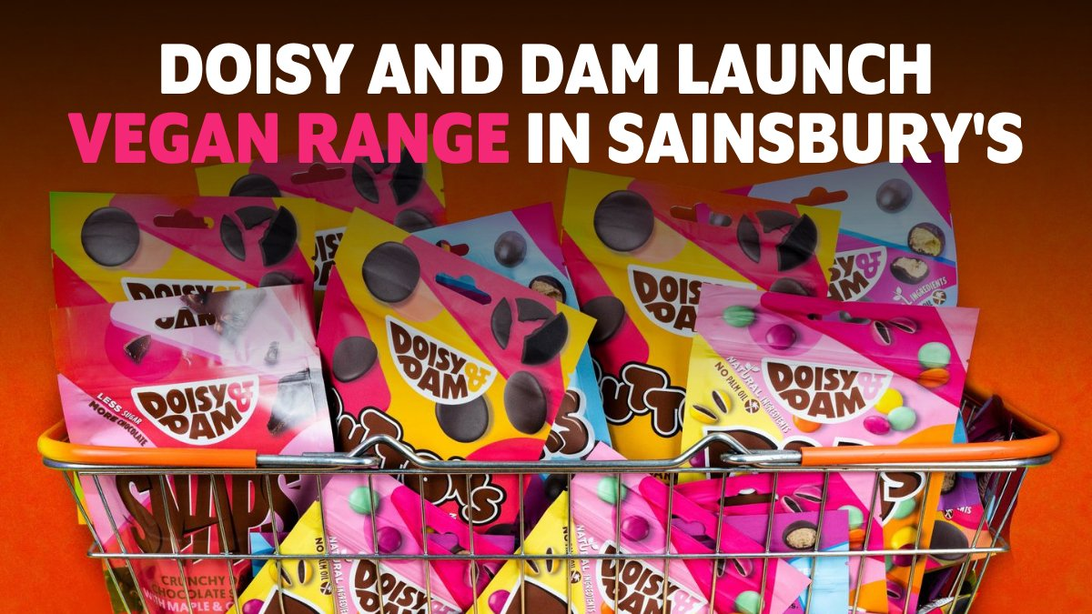 Vegan chocolate fans RT! @doisyanddam are launching their share bags of Ballers, Buttons and D&Ds into 420 Sainsbury's stores across the UK, as well as Sainsbury's online! pic.twitter.com/KyPE3gYSkr