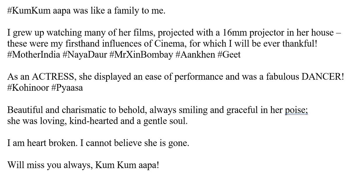 Will miss you always, #KumKum aapa!! 💔