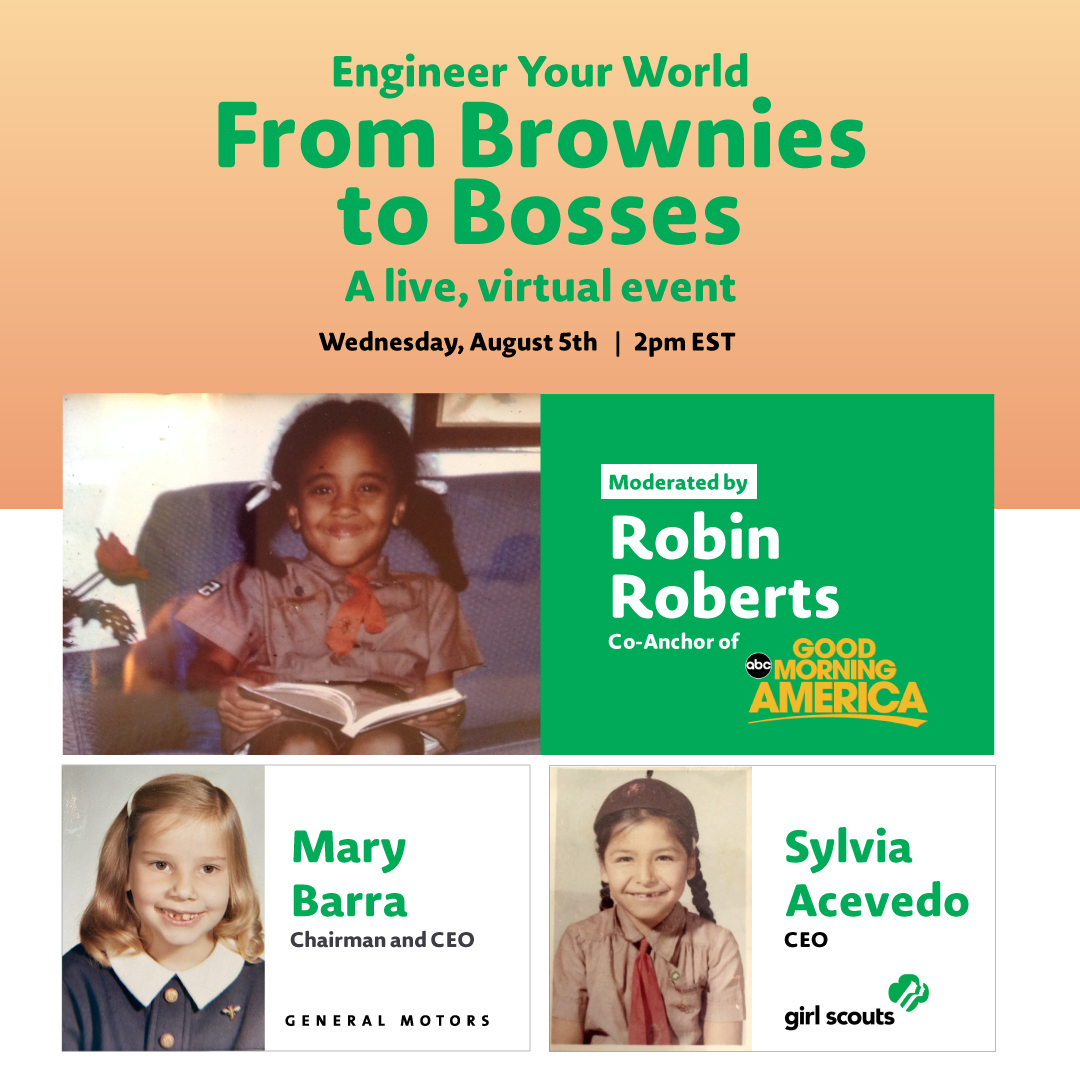 Learning about #STEM is what ultimately led me to where I am today, as it provides many opportunities. I'll be talking with @SylviaAcevedo and @RobinRoberts about our advice for next generation of female leaders on Aug. 5 at 2pm ET. I hope you'll join us! bit.ly/2Csfb2t