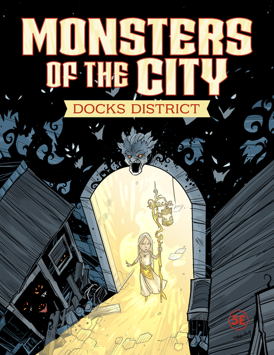 #dnd Our newest book, Monsters of the City, is available for pre-orders: https://t.co/neUJmdWxvy Over 100 new creatures and resources for a city campaign! Art by @Travsthebean Graphic Design by @gmcalpin #monstersofthecity #monsterseries https://t.co/0040vBQ6p3
