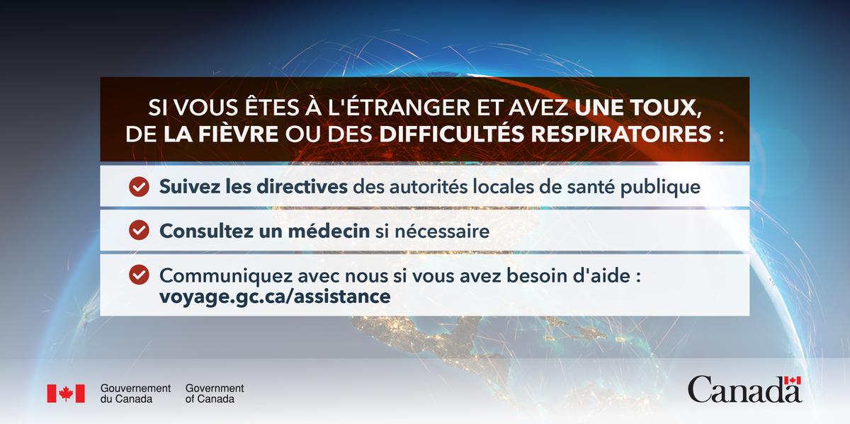 Canadiens à l'extérieur du Canada, si vous avez des symptômes ou un diagnostic de #COVID19, voici quoi faire 👇    https://t.co/Djf8X0o1h5 https://t.co/P2QSCLgjjJ