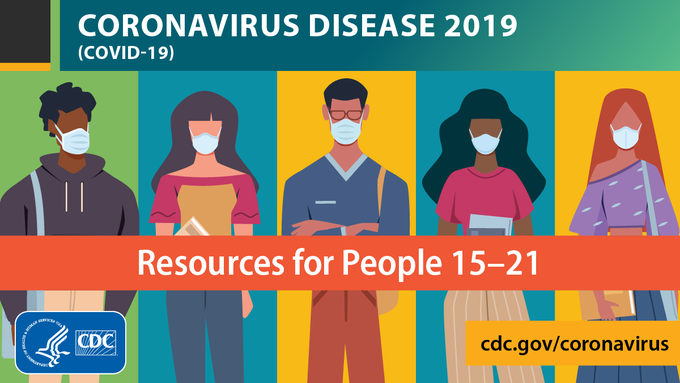 #DYK? @CDCgov's One-Stop Shop for #COVID19 Resources has a section for communicating with people ages 15-21. Find those tools here: bit.ly/3hxr0D5