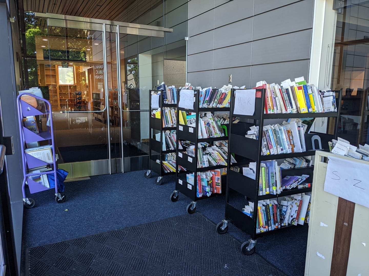 Franklin Library: Curbside Pickup Update July 28