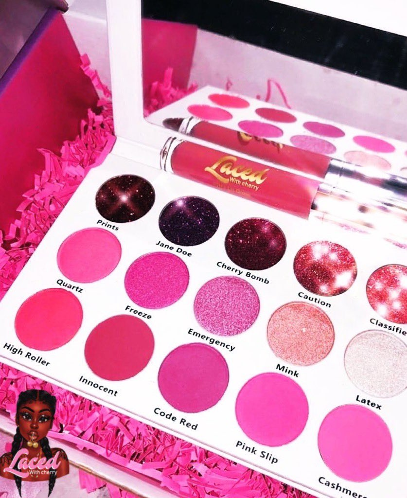 Our Wanted Palette Is Almost Sold Out!  Order Now While You Still Have The Chance! Website Link Is In Our Bio#eyeshadow #glitter #SmallBiz #pink #glittereyeshadow #kawaii #lipgloss #matte #shimmer #shoponline #shoppingqueen #BlackOwnedpic.twitter.com/uJe09L6fHP