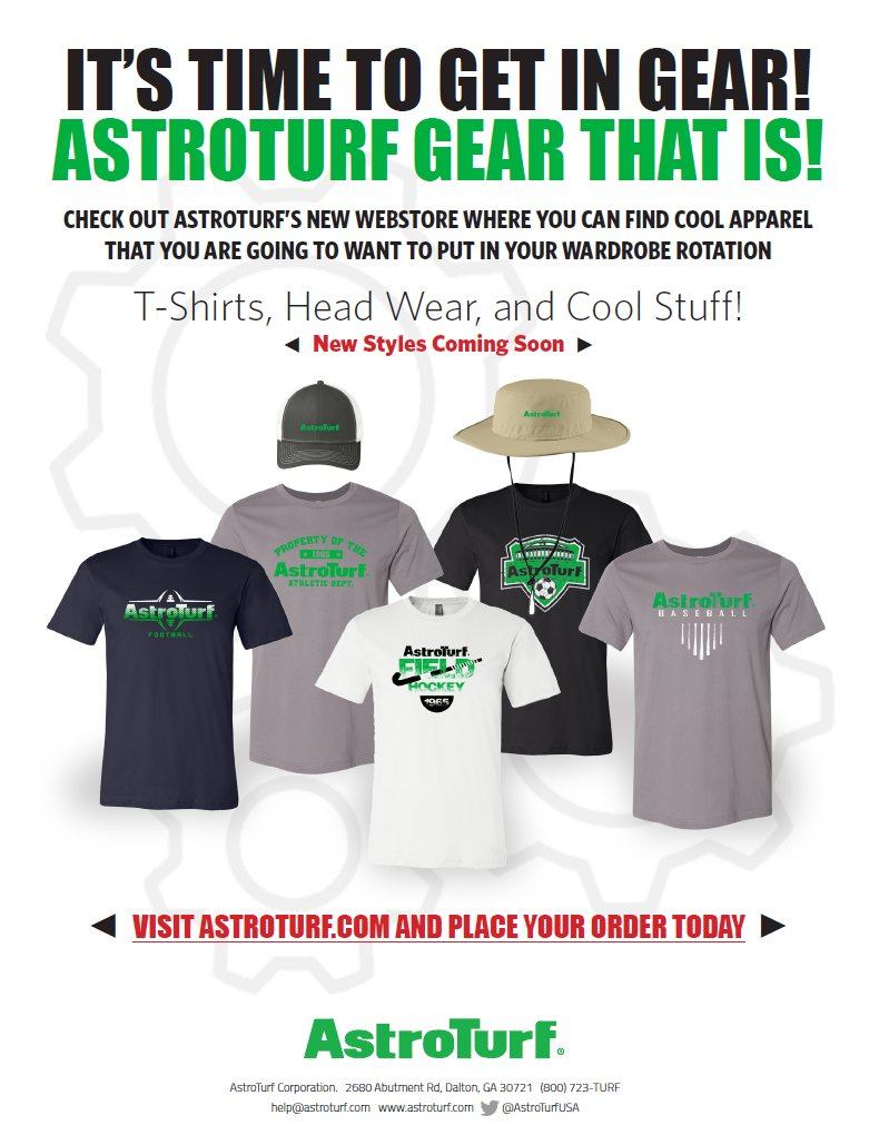 The AstroTurf Gear Web Store is open for business! Visit gear.astroturf.com for a great selection of AstroTurf branded merchandise. #OfficialAstroTurfSWAG @AstroTurfUSA