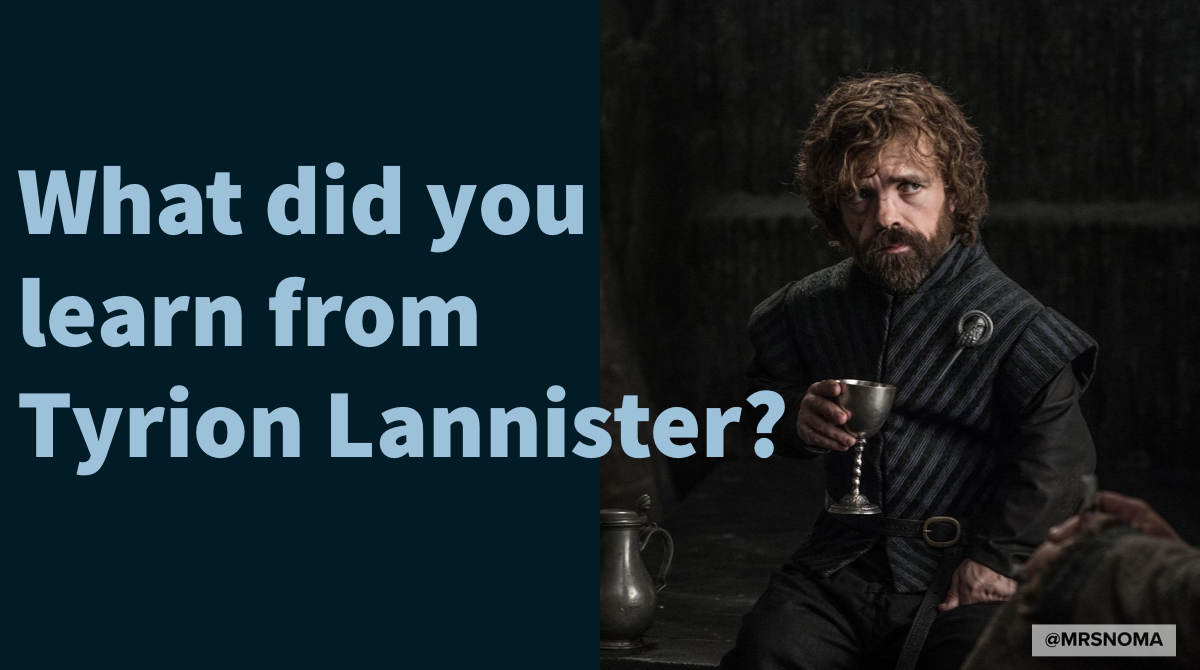 #GameOfThrones fans - Question 👇🏾  PS: I don't recognise Season 8...  #GOT #TyrionLannister https://t.co/ZJX3lVuWlQ