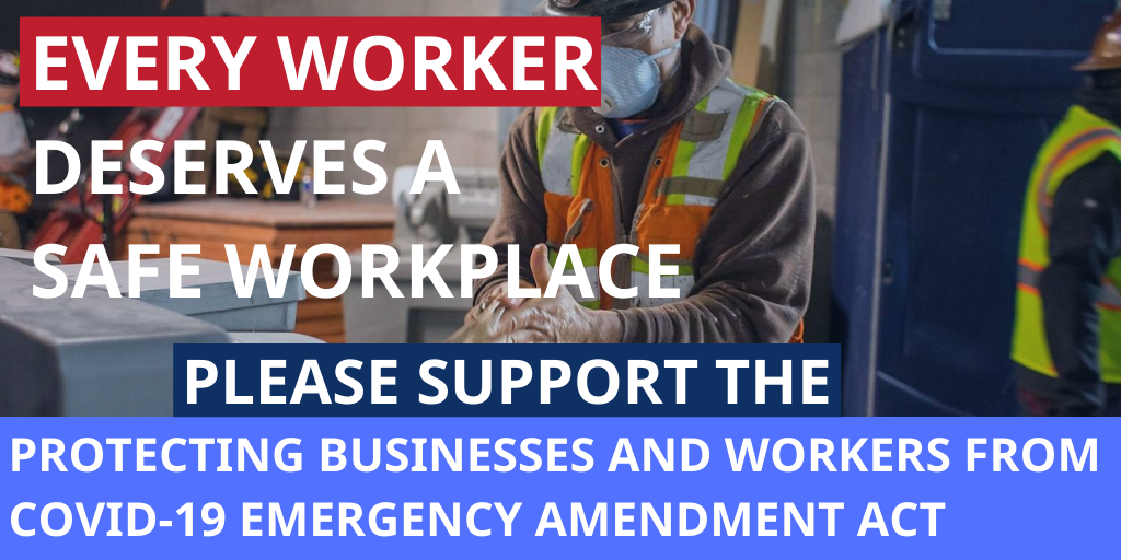 We must pass the Protecting Businesses and Workers from COVID-19 Emergency Amendment #ProtectDCWorkers @ChmnMendelson @cmdgrosso @RobertWhite_DC @AnitaBondsDC @marycheh @CMBrookePinto @CMBrandonTodd @CM_McDuffie @charlesallen @VinceGrayWard7 @trayonwhite