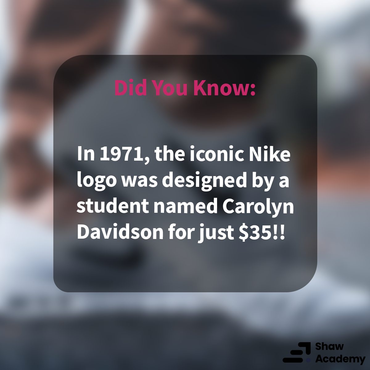 #DidYouKnow  You could create the next big logo with the help of our Graphic Design Course: https://t.co/WHzr4JTpou  #shawacademy #graphicdesign https://t.co/EJyhtTQx3t