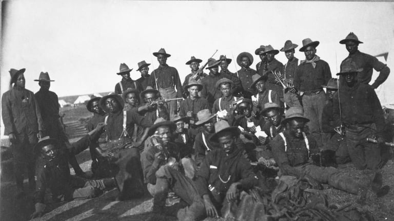 Today is #BuffaloSoldiersDay 🇺🇸  Buffalo Soldiers Day commemorates the formation of the first regular Army regiments in 1866 that included African American soldiers.  #BuffaloSoldiersDay https://t.co/ZyQjqsgEm7