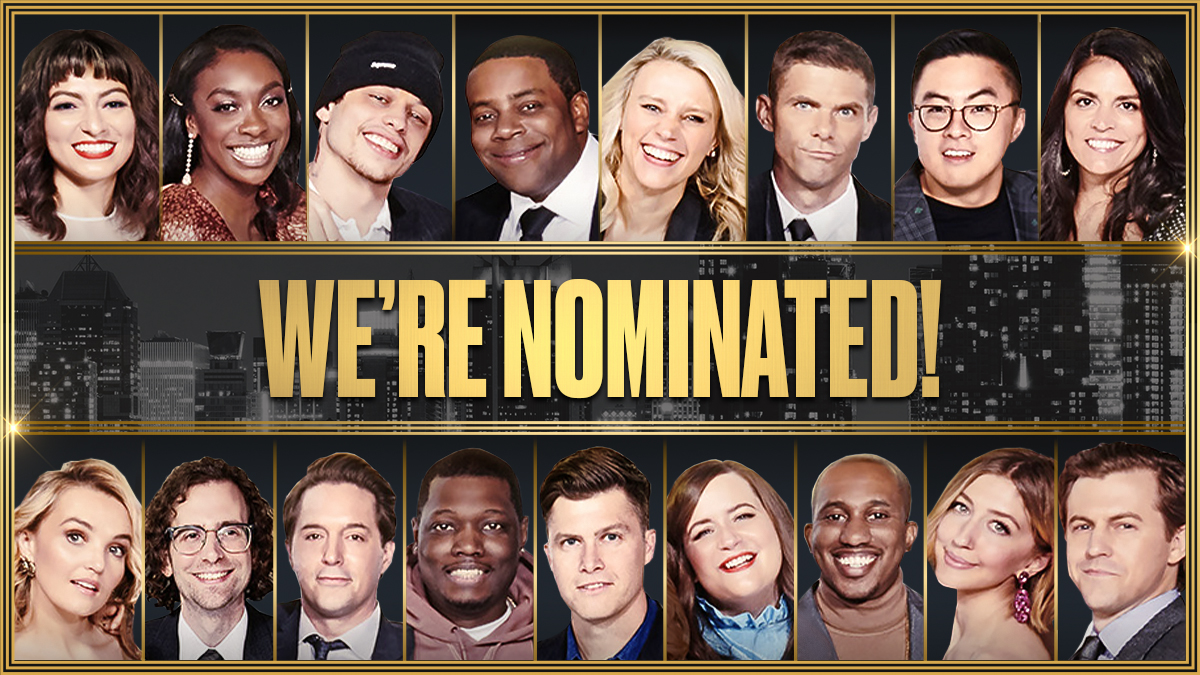 CONGRATS to the whole team at SNL on the Emmy nomination! And thank 𝘆𝗼𝘂 for watching with us!