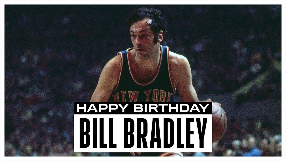 Join us in wishing a Happy 77th Birthday to 2x NBA Champion and @Hoophall inductee, Bill Bradley! #NBABDAY