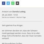 Image for the Tweet beginning: Prima! @DaniLudwigMdB möchte den Eigenanbau