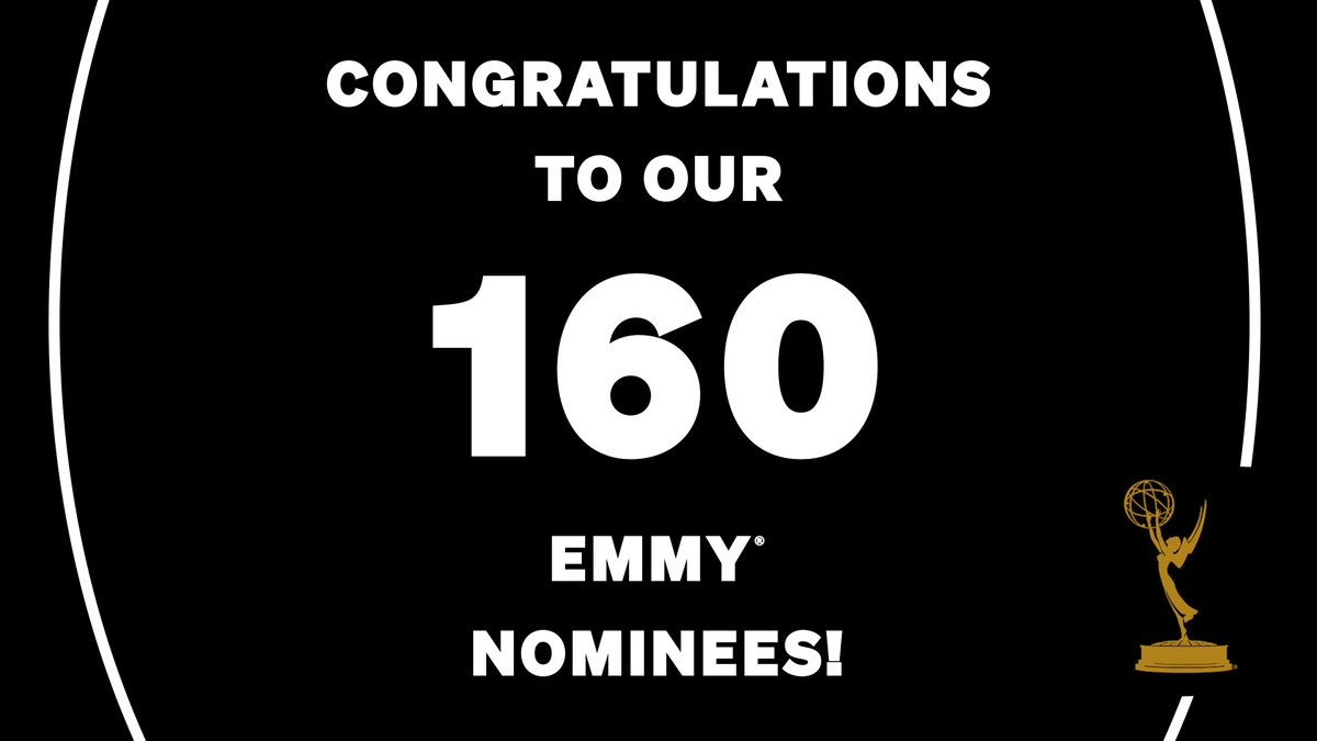 Congratulations to our 160 @netflix nominees at the 2020 #Emmy Awards!