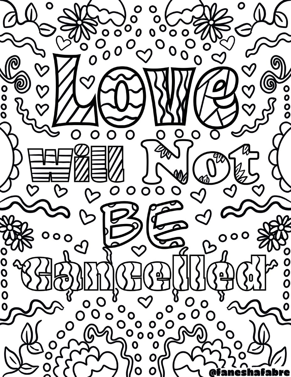 Morning! We're back with more coloring book pages, and this one was designed by the talented multimedia artist and @ArtHouse collaborator, @FaneshaFabre.   Look out for another of her designs, coming later this week. https://t.co/iI3QWsOdWz