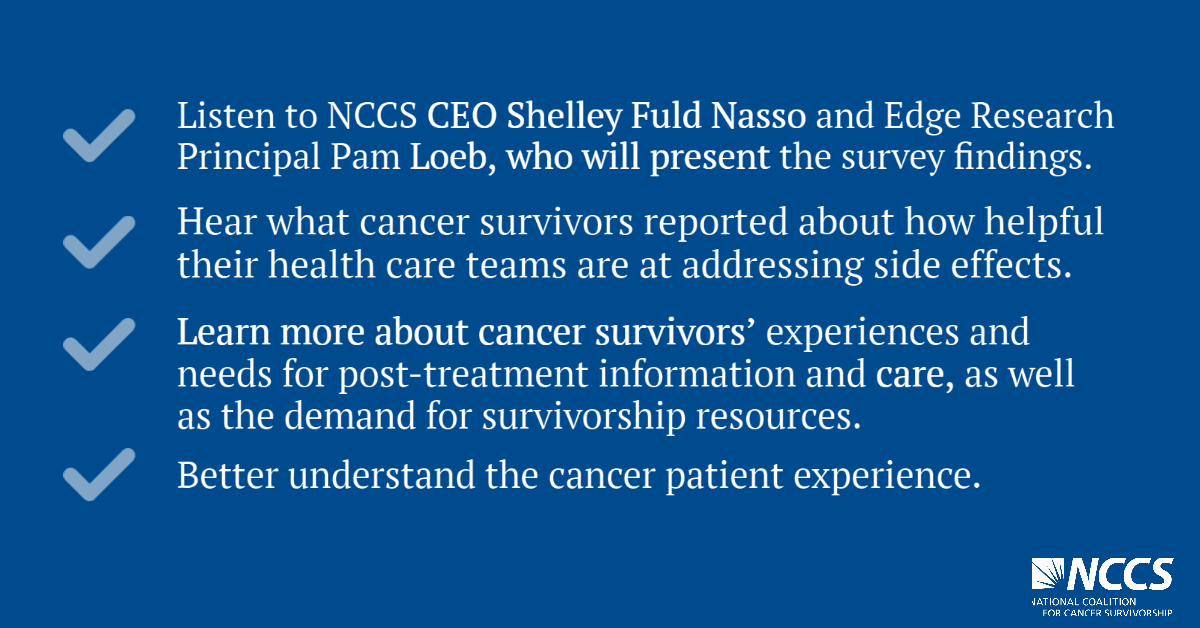 Learn new, national data surrounding the cancer survivor journey in NCCS's 2020 State of Cancer Survivorship Survey Results web briefing on August 4 at 1 p.m. ET ‼️https://t.co/iVyoC6S4i8 https://t.co/dm137siEqM