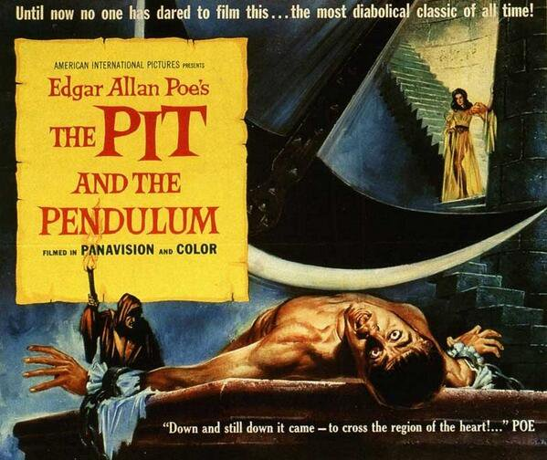 THE PIT AND THE PENDULUM (1961) by @RogerCorman w/ Vincent Price & Barbara Steele #horror #poster pic.twitter.com/2KL1oddaio