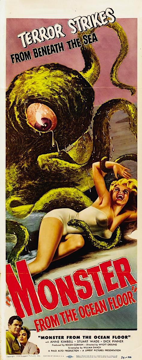 MONSTER FROM THE OCEAN FLOOR (1954) #horror #scifi #poster pic.twitter.com/rrORekRLGr