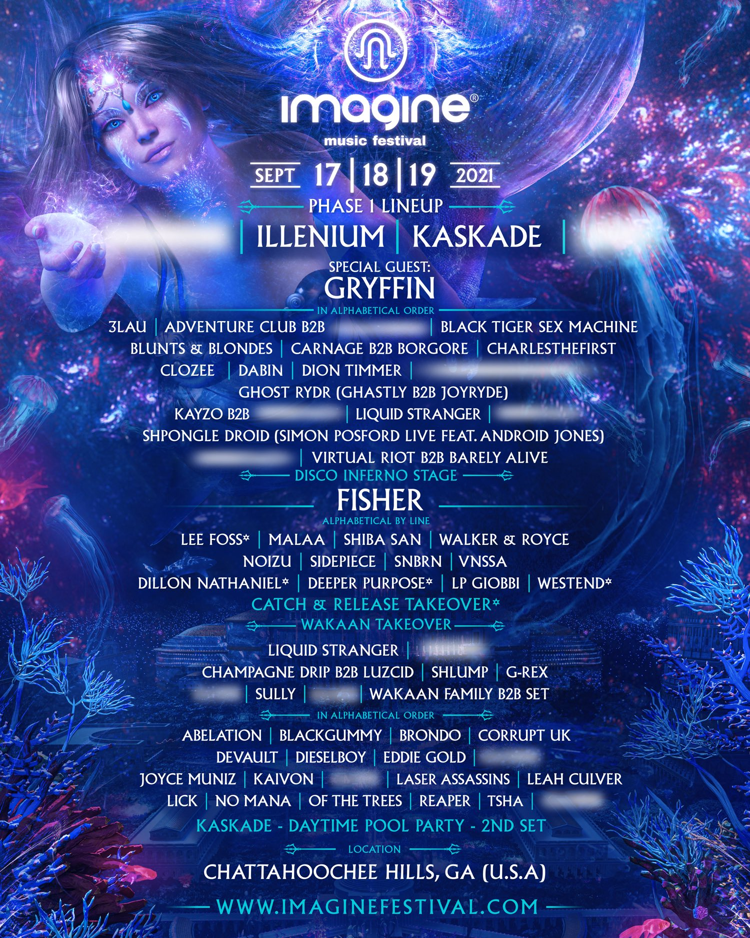 Imagine Phase 2021 lineup