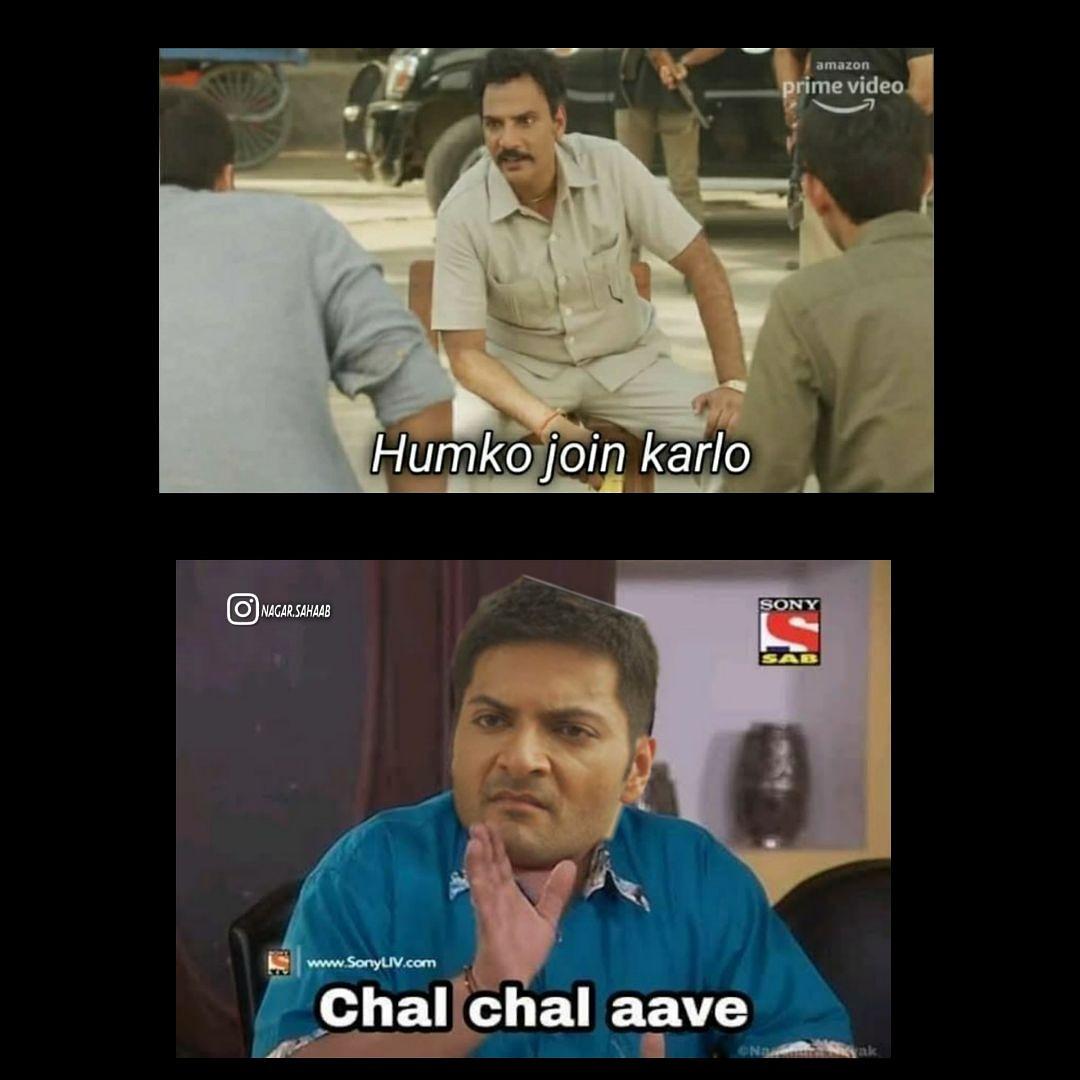 Mirzapur x tmkoc crossover #TMKOC #mirzapur #alizafar #pankajtripathi  #jethalal #desihumour #memesdaily #ocmemes #memeChat #memesdaily #MEMES #memecommunity #Crossovermemes #webseriesmemes #Mirzapurmemespic.twitter.com/Ysxy4OsG0a