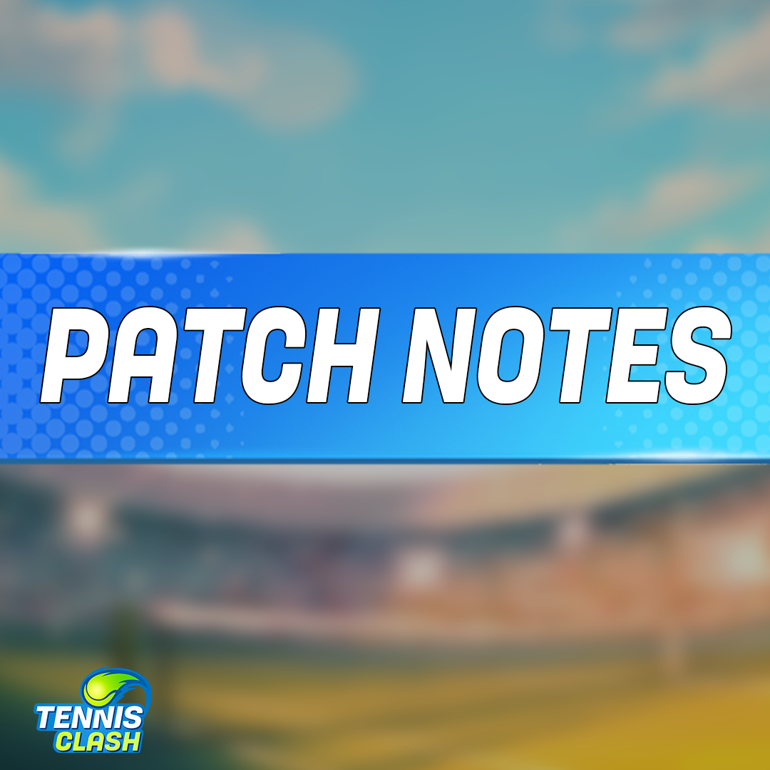Gameplay Changes - Reduction of stamina consumed by hitting the ball - Base agility increase for all characters - Nerf for stamina shield strings  New Court Surfaces (Enabled later) - Hard, today's default - Clay, ball bounce higher - Grass, ball bounce lower and travel farther https://t.co/gEGf5XGkUW