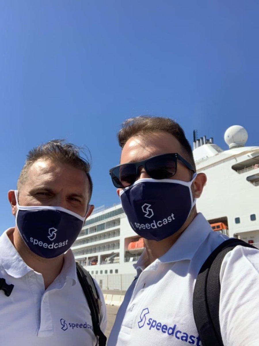 #Safety first! Members from our Field Technician team are masked and ready to support a cruise customer migration. https://t.co/SA4wDybta2