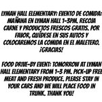 Image for the Tweet beginning: Food Drive!
