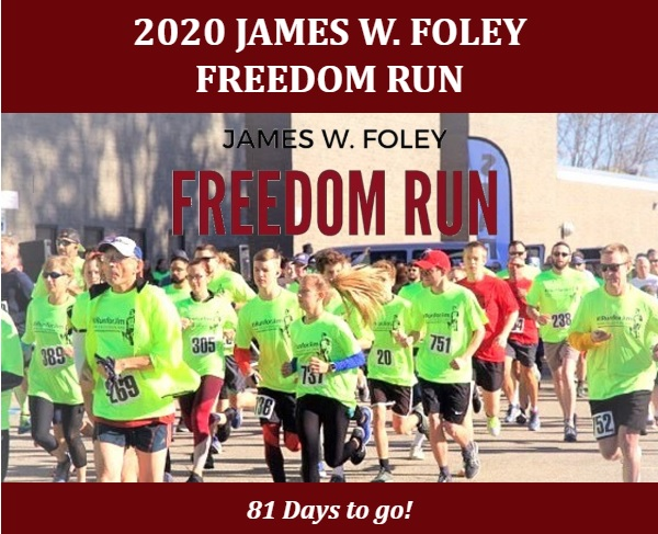 #IRunForJim  The 6th Annual James W. Foley Virtual Freedom Run is only 81 days away! Register at https://t.co/P14LF4DNt9! To date, we have raised 20% of our crucial goal: $21,934.50  Top Team: Foley's Gutter Stars from Milwaukee, WI Top Donor: Doug Petepiece from Ontario, CAN https://t.co/O8tsWAgolO