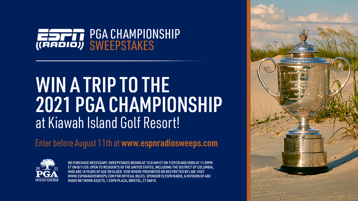 Its #PGAChamp weekend! WIN a trip to the 2021 @PGAChampionship from @ESPNRadio! Enter now at espnradiosweeps.com