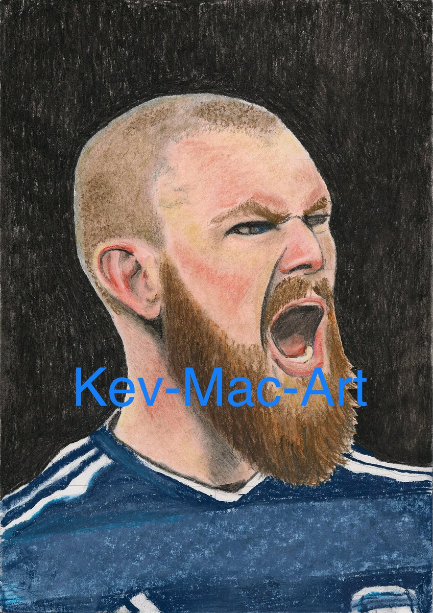 Finished this big handsome man today @ronnimall 💙💪🏻 50 prints and original up for sale at  ⚽️💙