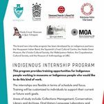 Image for the Tweet beginning: Call for Indigenous people for
