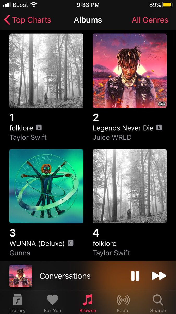 Jucie was number 5 and now he's number 2 he's making a comeback long live the goat  #JuiceWRLD pic.twitter.com/BEiBd4szKH