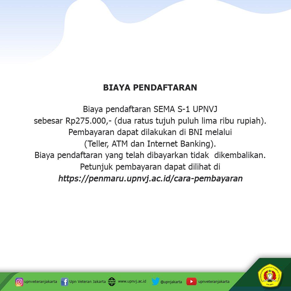 Upn Veteran Jakarta On Twitter Hallo Semua Mimin Infokan Tanggal Penting Penerimaan Mahasiswa Baru Program Sarjana Jalur Mandiri Jangan Lupa Tag Teman Sahabat Dan Keluarga Kamu Jangan Sampai Ketinggalan Informasi Ya Teman Teman