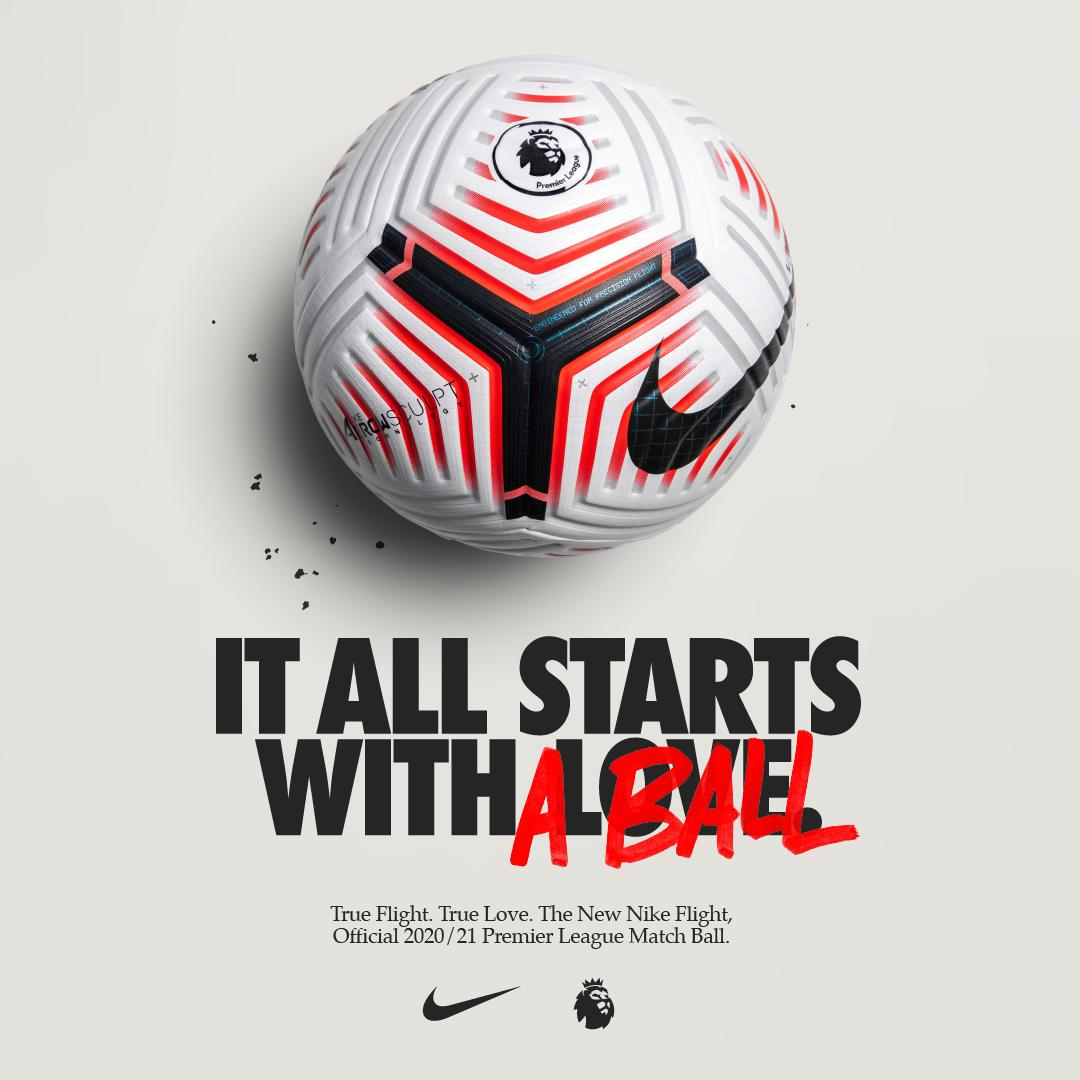 💥 Pace, precision and explosiveness.   Are you ready for @NikeFootball's new Premier League match ball? 🎯  Introducing the official 2020/21 Premier League Nike Flight ball   #Playwithlove 👉 https://t.co/tL0aqKkB5C https://t.co/AYahTd35ZC