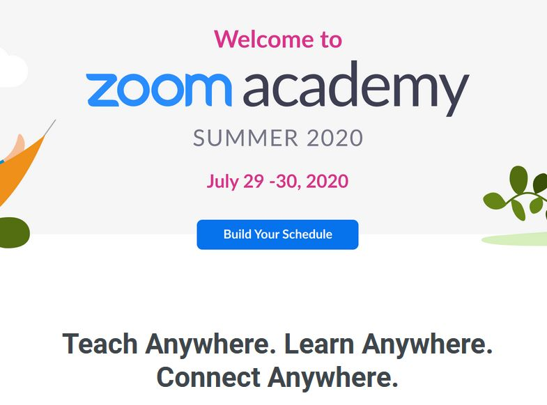 The @Zoom Summer Academy virtual event is Wed-Thu! I'm part of the Learn Anywhere panel, and am excited to share ideas on possibilities for online learning. Free registration here: https://t.co/oxQKjG9LST #Zoomedu #5DTC #CatholicEdChat #ISTEchat #FETCchat #CAedchat #TLAP https://t.co/wMWqNTEoYH