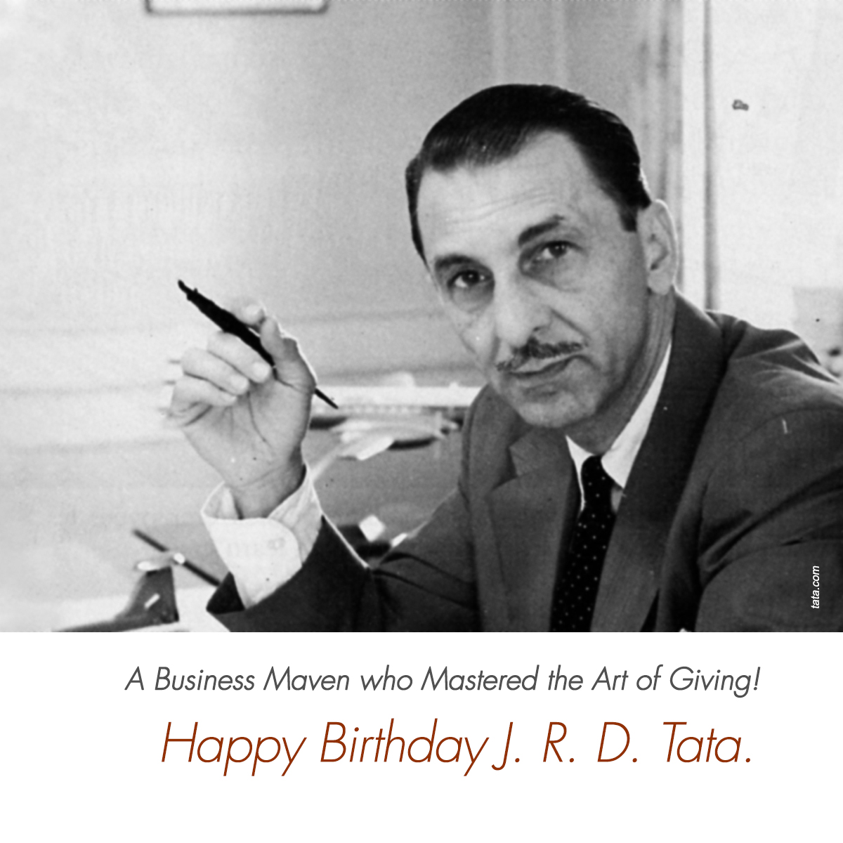 He always crossed bridges to know what lay ahead. He was an innovator & industrialist by profession, but a philanthropist at heart. Happy Birthday J. R. D. Tata! #AlmalInspiredSpaces #JehangirRatanjiDadabhoyTata #Innovator #Industrialist #Philanthropist #Entrepreneurpic.twitter.com/WbcvZa9BfY