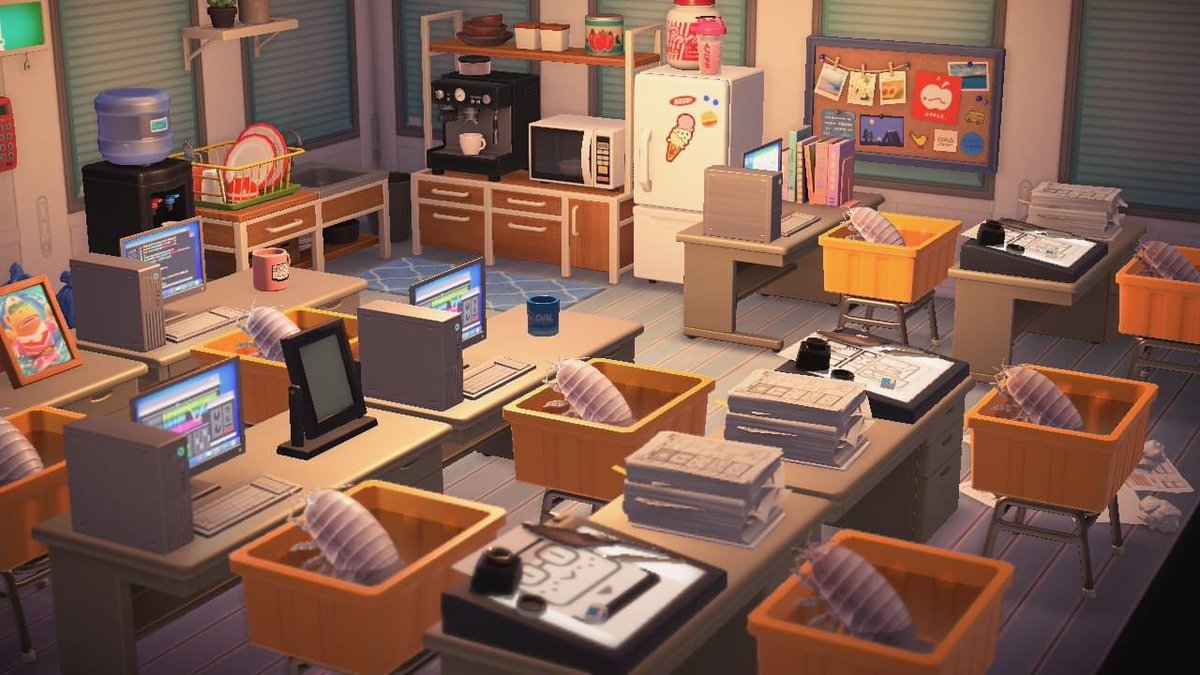 An animation studio that's all giant isopods  #acnh #AnimalCrossingNewHorizions https://t.co/C1Si6Rkk58