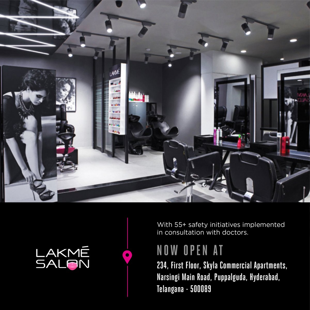 Hyderabad, we just couldn't get enough of you! Lakmé Salon is now open at Narsingi Main Road 📌 Book your slots today and drop by for a head to toe beauty makeover 🌻 📞 us on 1800-123-1952 or download the Lakmé Salon App to pre-book your appointment.  #Newsalonopening https://t.co/bjZzwHY09A