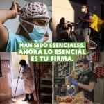 #SonEsenciales para nosotros y nuestra firma lo es para pedir al Gobierno español que garantice unas condiciones laborales dignas a todos los trabajadores esenciales. Puedes firmar esta iniciativa de @OxfamIntermon aquí: https://t.co/vTWxQEUfXB Gracias 🌟