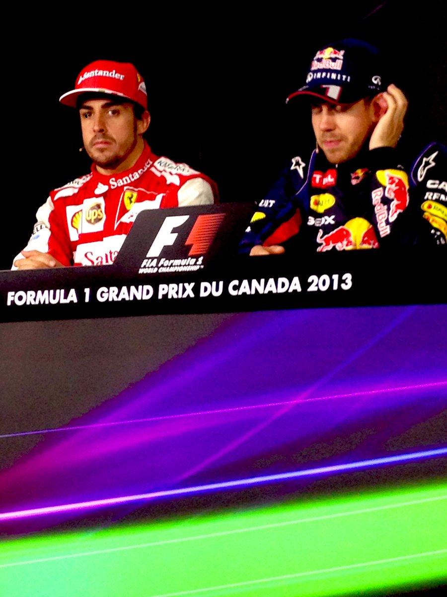 Happy birthday @alo_oficial ! Feliz Cumpleaños   📸: me - 2013 #CanadianGP press conference #F1Plus with @rochesports https://t.co/BpIRAhJDiw