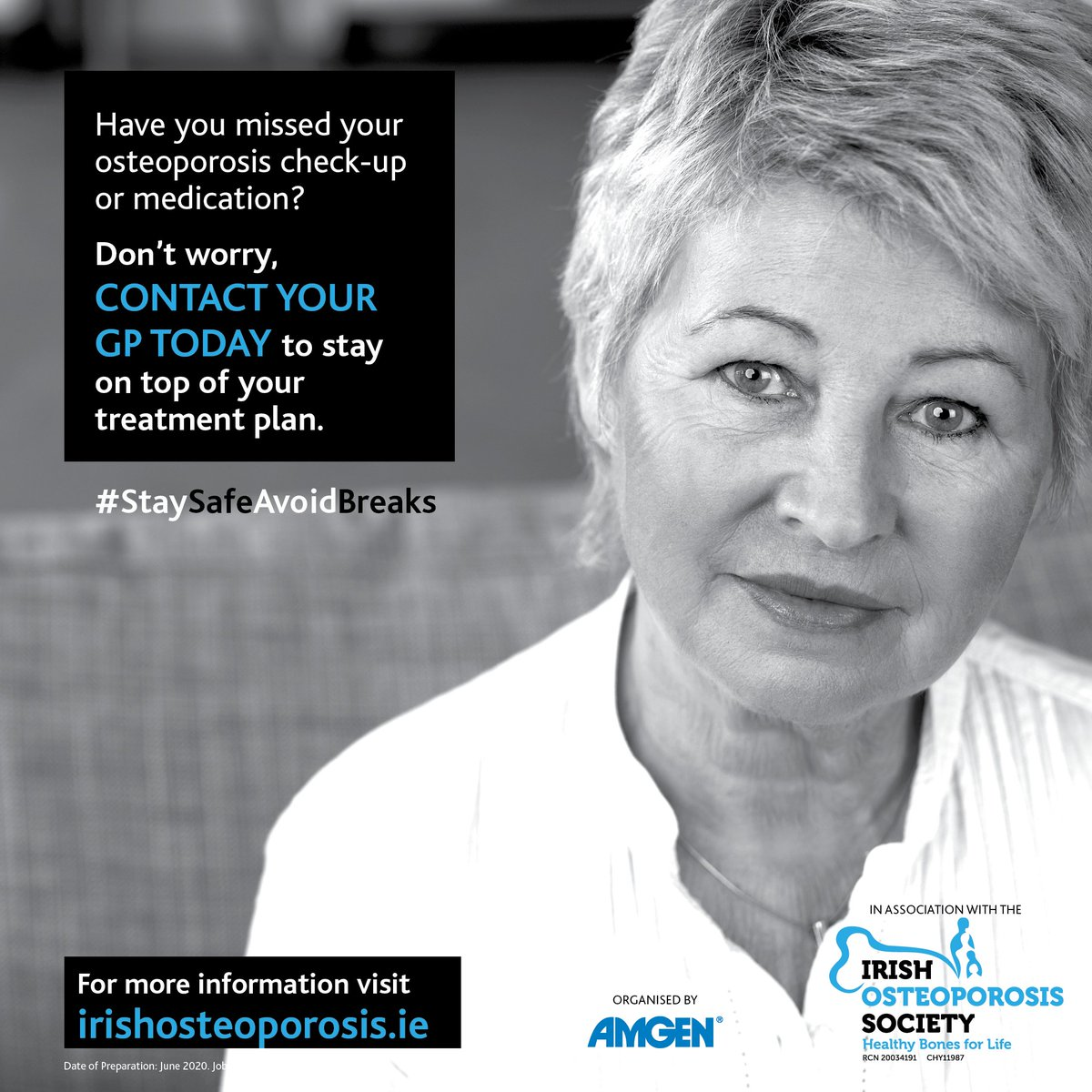 Call your GP to discuss the best options when it comes to managing osteoporosis during this time. For more information visit our education hub #StaySafeAvoidBreaks https://t.co/GJ7auhPKtS https://t.co/xoRZYUGxGl
