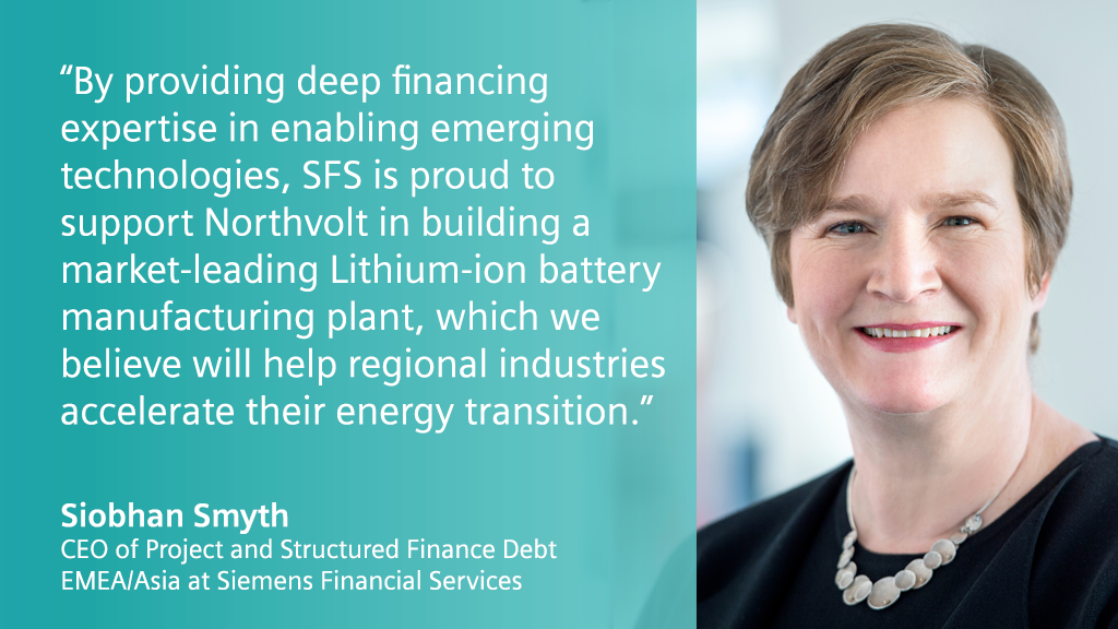 Future #industries powered by sustainable batteries? Via Siemens Bank, we're helping @Northvolt build a Lithium-ion #battery manufacturing plant, marking a pioneering structured #finance solution for a gigafactory equipped with @SiemensIndustry tech: https://t.co/NTTITRtTGm https://t.co/dLmttgLOyX