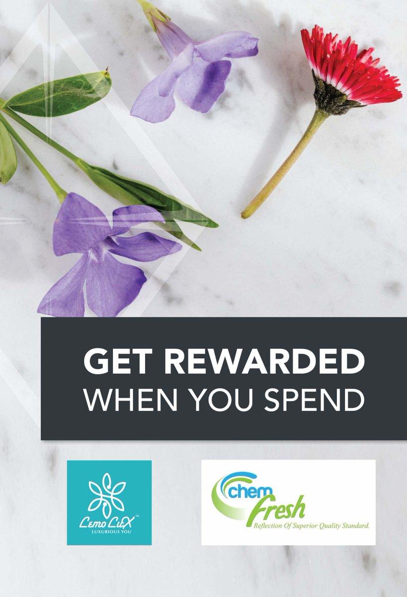 Get BEST REWARDS!!! when you spend on Chem Fresh and Lemo Lux Products... @chemfresh SA  @chem fresh_SA #mychemfresh  #mylemolux https://t.co/Nn4q4zHzPG