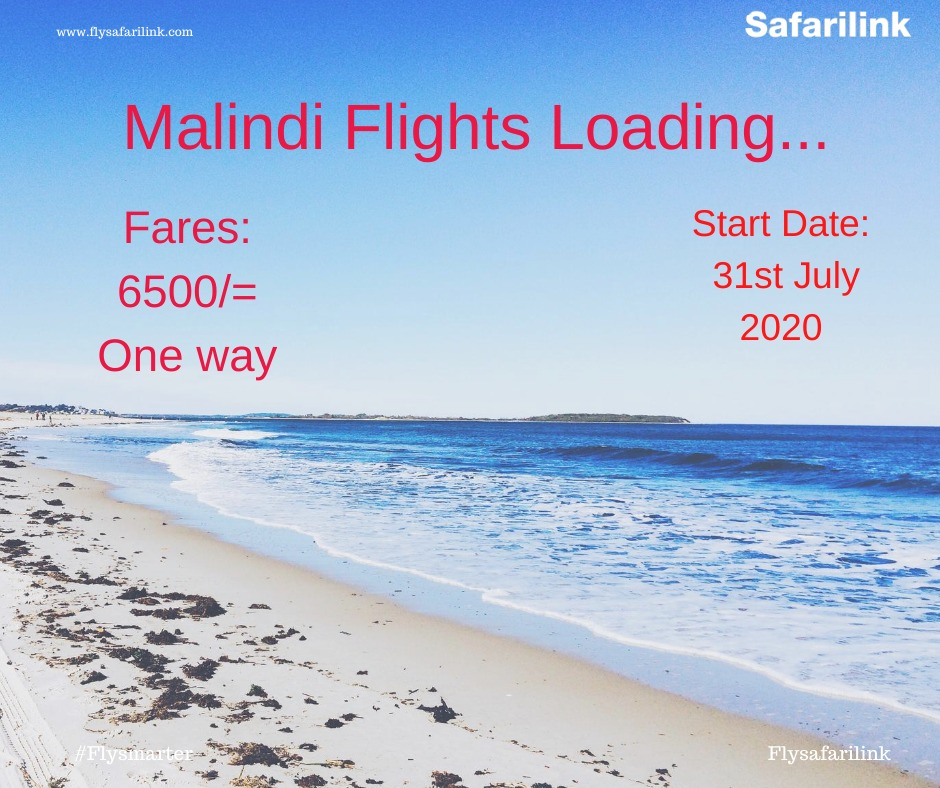 Good news this Eid-Ul-Adha! We know we have all been indoors for a while, so its time to explore and chill by the beach. Safarilink has launched special flights to Malindi this weekend from Kes 13000 return.Let your toes feel the sand. Book now at https://t.co/u96TCSgHfG https://t.co/XJ17KwZ0WY